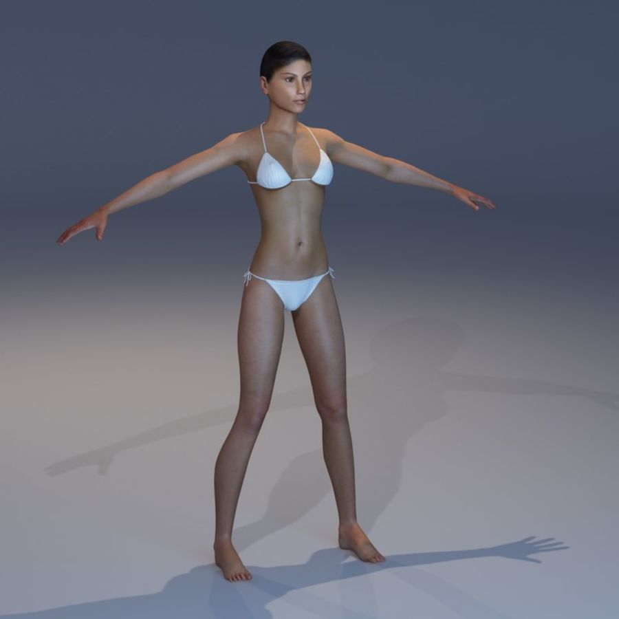 Anatomie féminine mince royalty-free 3d model - Preview no. 25