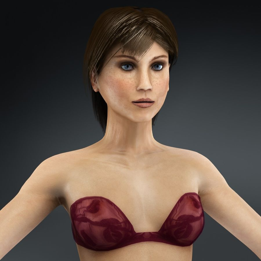 Anatomie féminine mince royalty-free 3d model - Preview no. 37