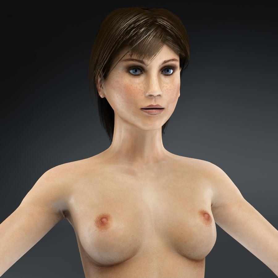 Kvinna Anatomi Slim royalty-free 3d model - Preview no. 43