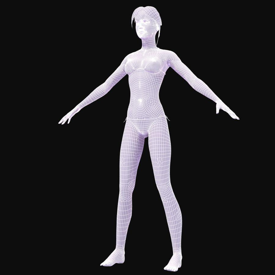 Kvinna Anatomi Slim royalty-free 3d model - Preview no. 32