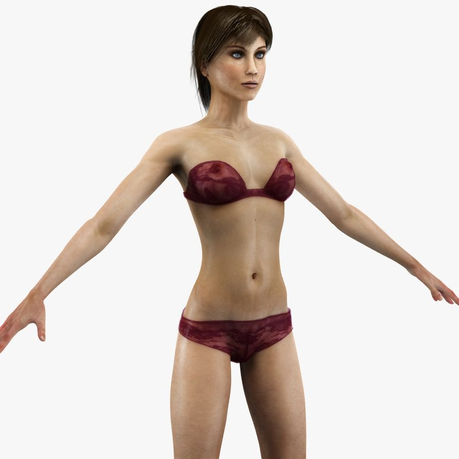 Anatomie féminine mince royalty-free 3d model - Preview no. 44