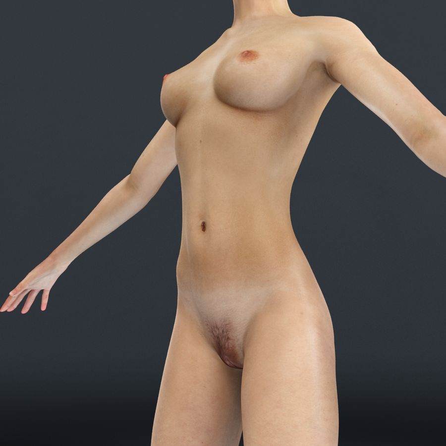 Anatomie féminine mince royalty-free 3d model - Preview no. 11