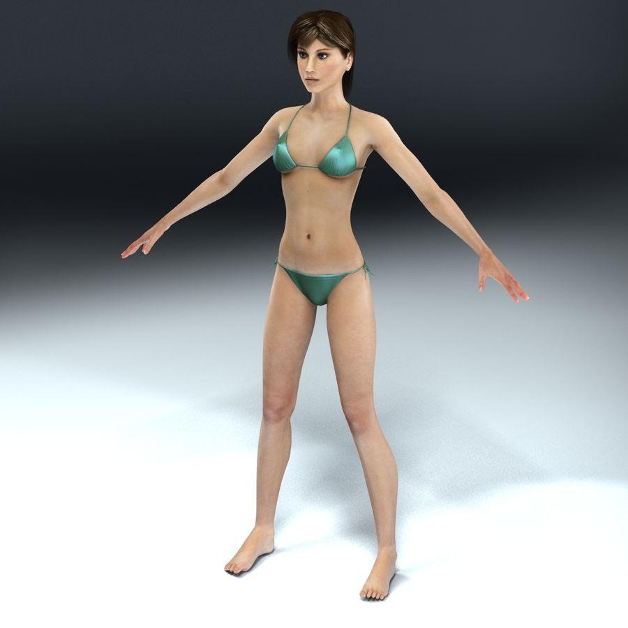 Kvinna Anatomi Slim royalty-free 3d model - Preview no. 5