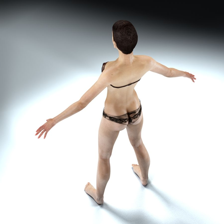 Anatomie féminine mince royalty-free 3d model - Preview no. 24