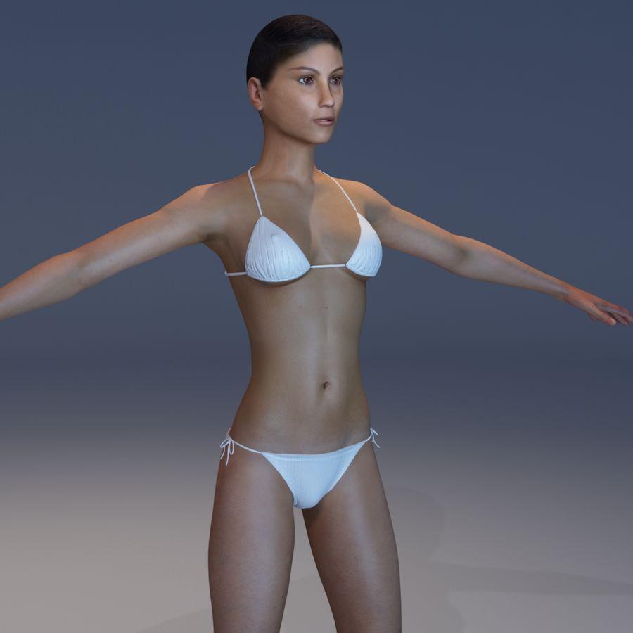 Kvinna Anatomi Slim royalty-free 3d model - Preview no. 26