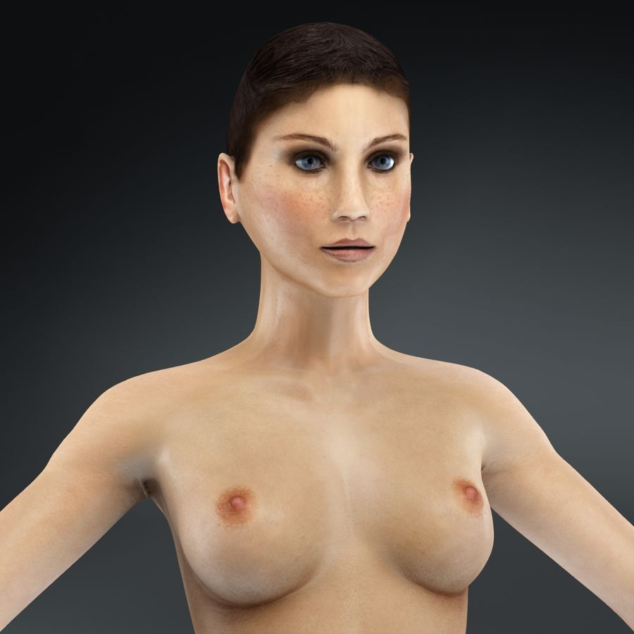 Kvinna Anatomi Slim royalty-free 3d model - Preview no. 41