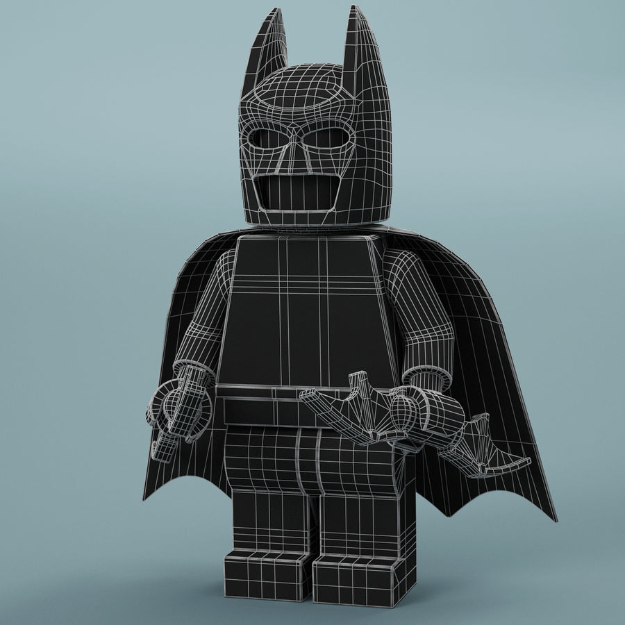 Lego Batman royalty-free 3d model - Preview no. 16