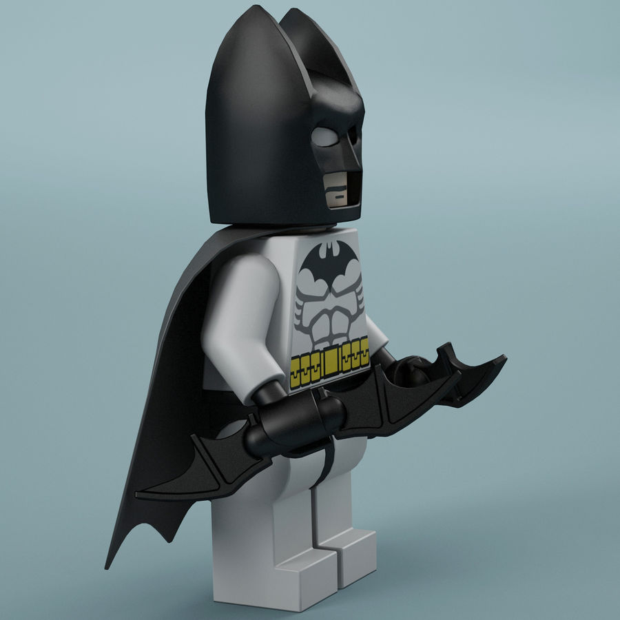 Lego Batman royalty-free 3d model - Preview no. 10