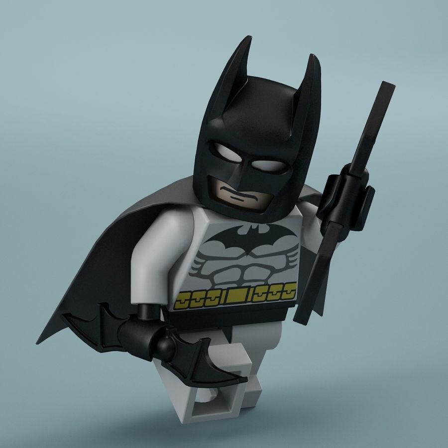 Lego Batman royalty-free 3d model - Preview no. 3