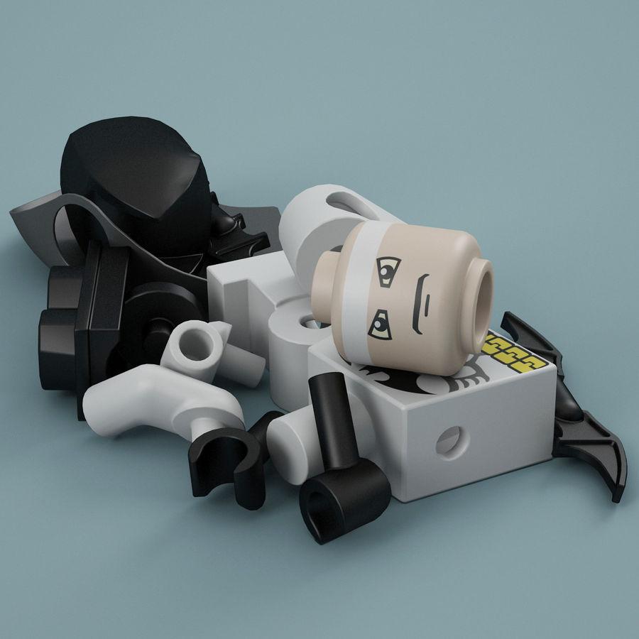 Lego Batman royalty-free 3d model - Preview no. 14