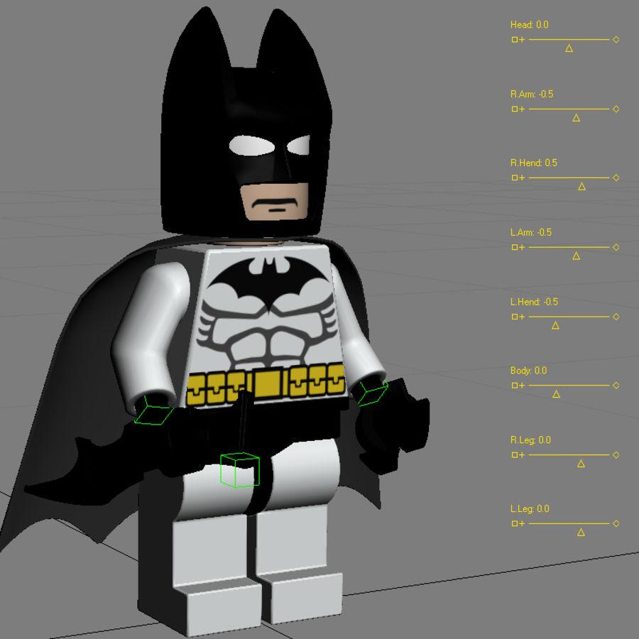 Lego Batman royalty-free 3d model - Preview no. 12