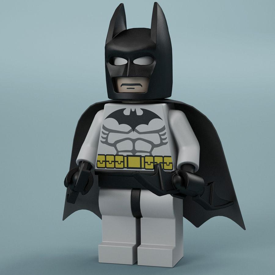 Lego Batman royalty-free 3d model - Preview no. 2