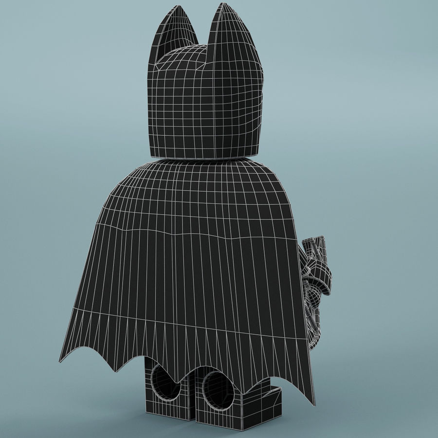 Lego Batman royalty-free 3d model - Preview no. 17