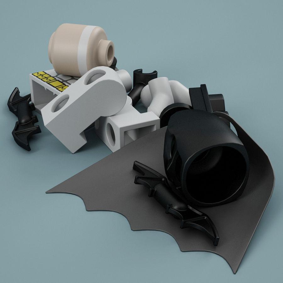 Lego Batman royalty-free 3d model - Preview no. 15