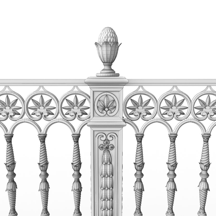 Fence royalty-free 3d model - Preview no. 8