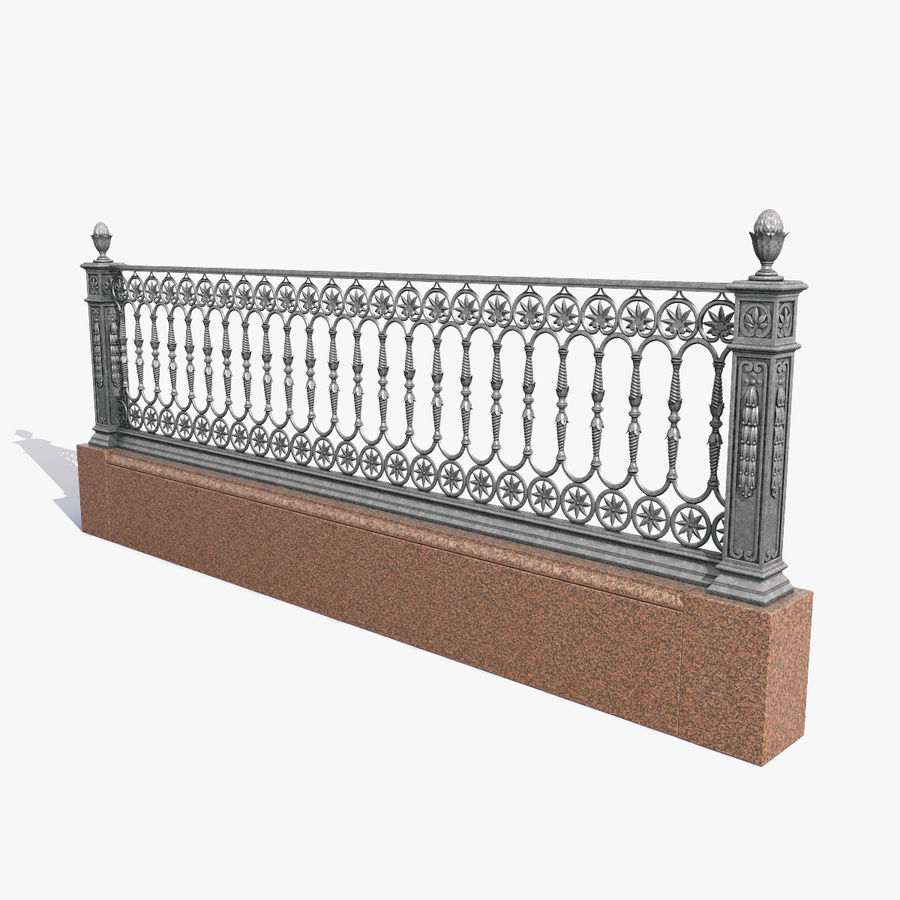 Fence royalty-free 3d model - Preview no. 1
