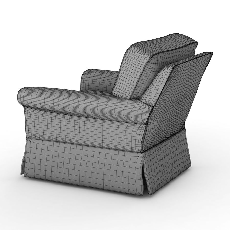Crate and Barrel - Bayside Chair royalty-free 3d model - Preview no. 10