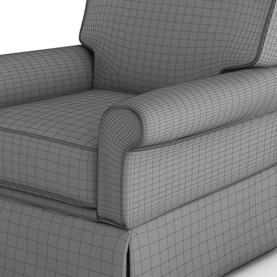 Crate and Barrel - Bayside Chair royalty-free 3d model - Preview no. 11