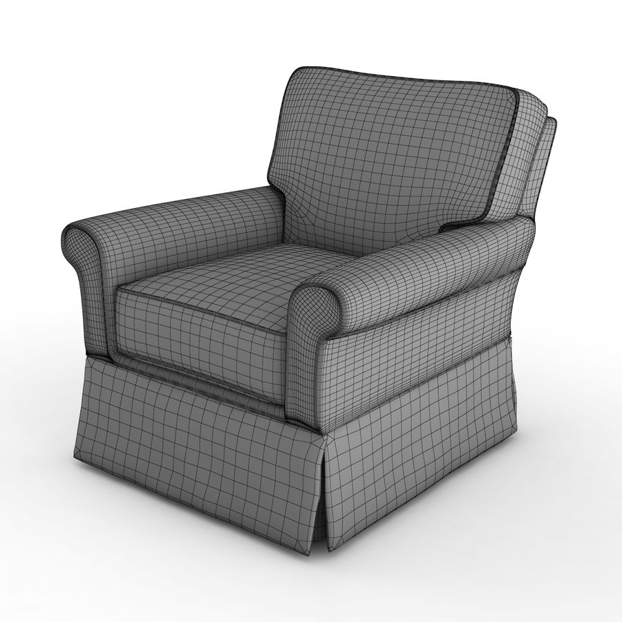 Crate and Barrel - Bayside Chair royalty-free 3d model - Preview no. 9