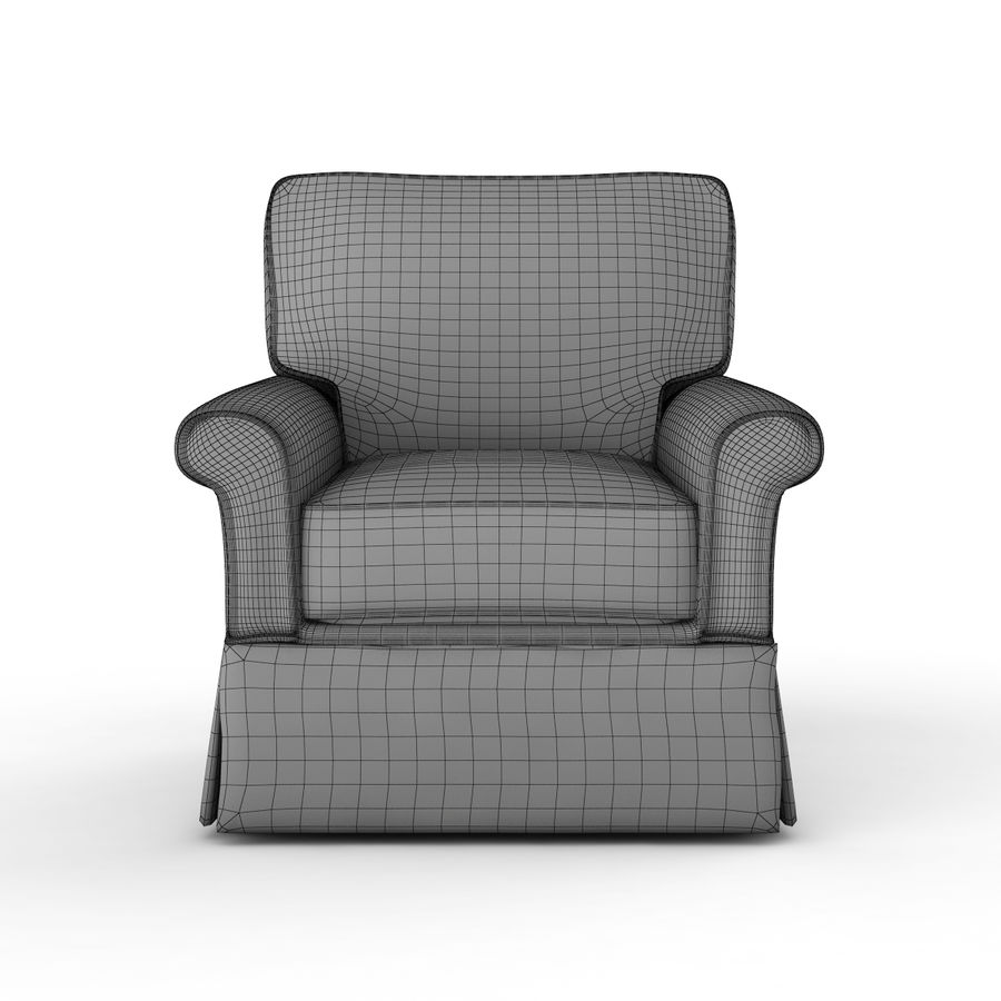 Crate and Barrel - Bayside Chair royalty-free 3d model - Preview no. 7