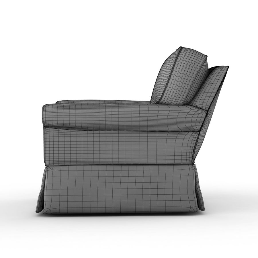Crate and Barrel - Bayside Chair royalty-free 3d model - Preview no. 8
