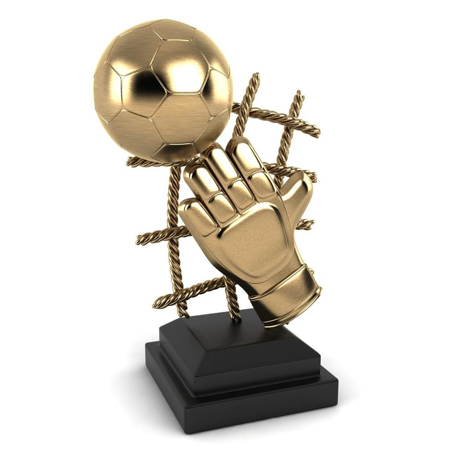 Football Trophy royalty-free 3d model - Preview no. 3