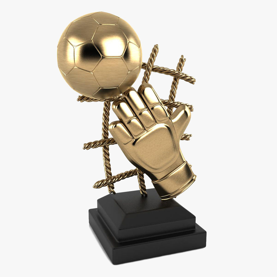 Football Trophy royalty-free 3d model - Preview no. 1