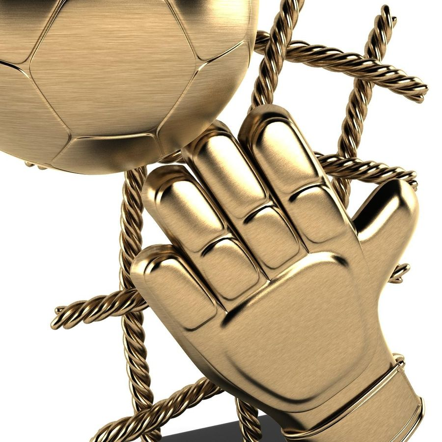Football Trophy royalty-free 3d model - Preview no. 8