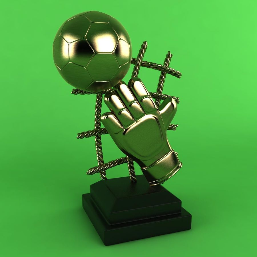 Football Trophy royalty-free 3d model - Preview no. 2