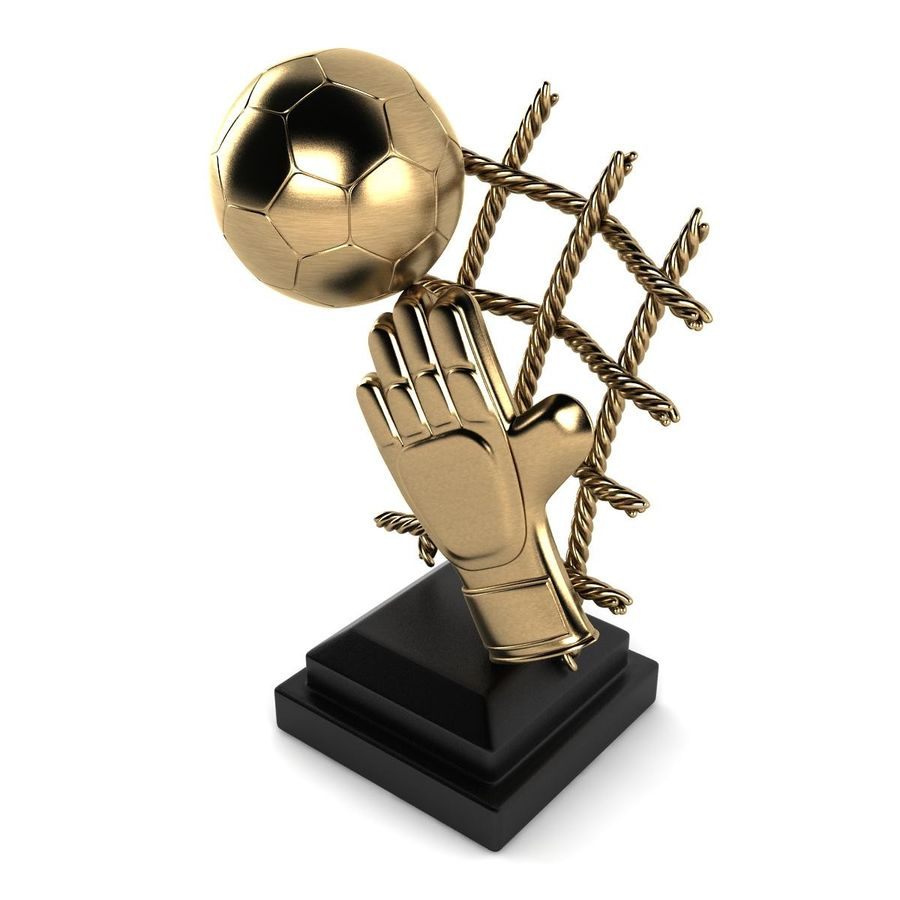 Football Trophy royalty-free 3d model - Preview no. 6