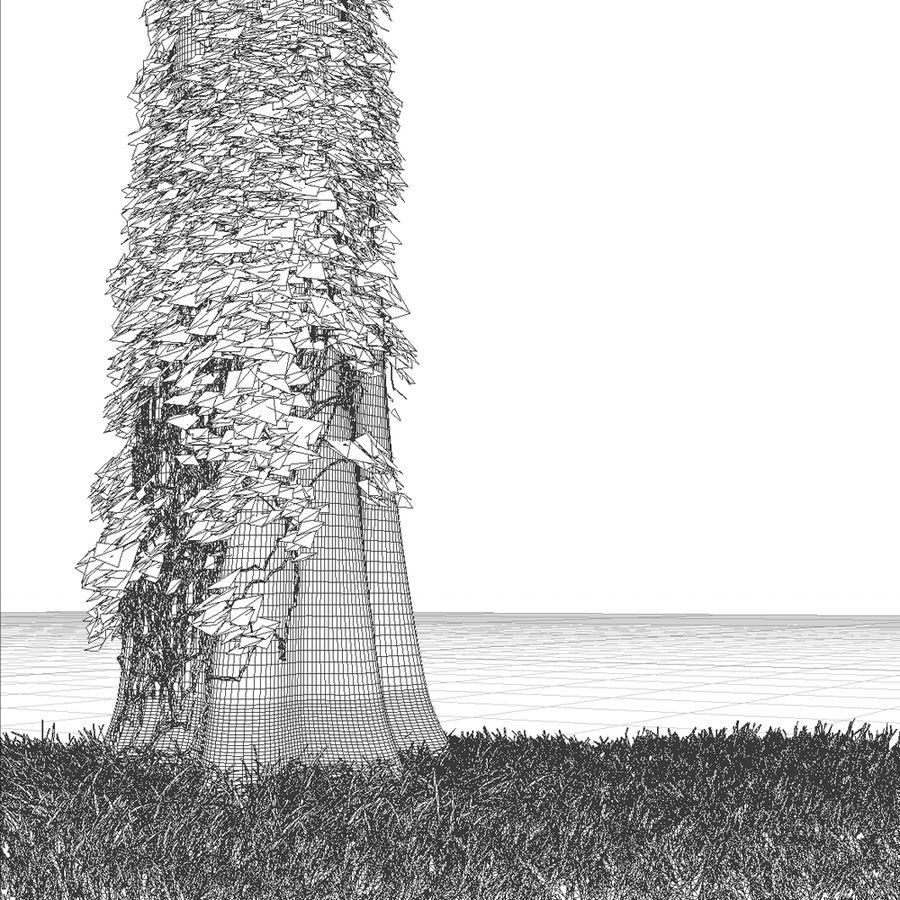 ツタに覆われた木の幹 royalty-free 3d model - Preview no. 4
