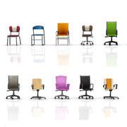 办公椅集合 3d model
