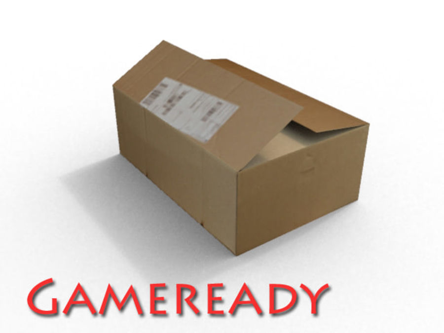 Cardboard box royalty-free 3d model - Preview no. 1