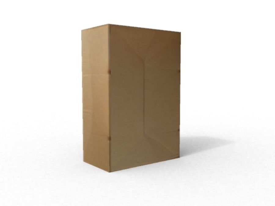Cardboard box royalty-free 3d model - Preview no. 4