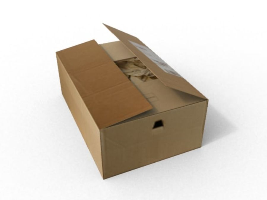 Cardboard box royalty-free 3d model - Preview no. 3