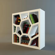 shelf cabinet with books 3d model