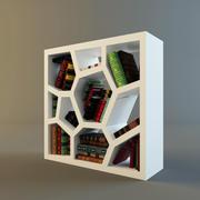 hyllskåp med böcker 3d model