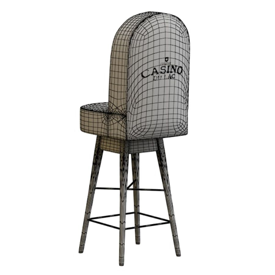 Casino Poker Chair royalty-free 3d model - Preview no. 7