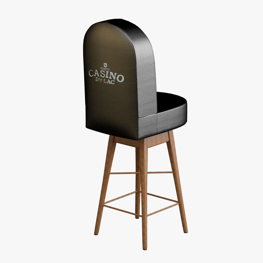 Casino Poker Chair royalty-free 3d model - Preview no. 1
