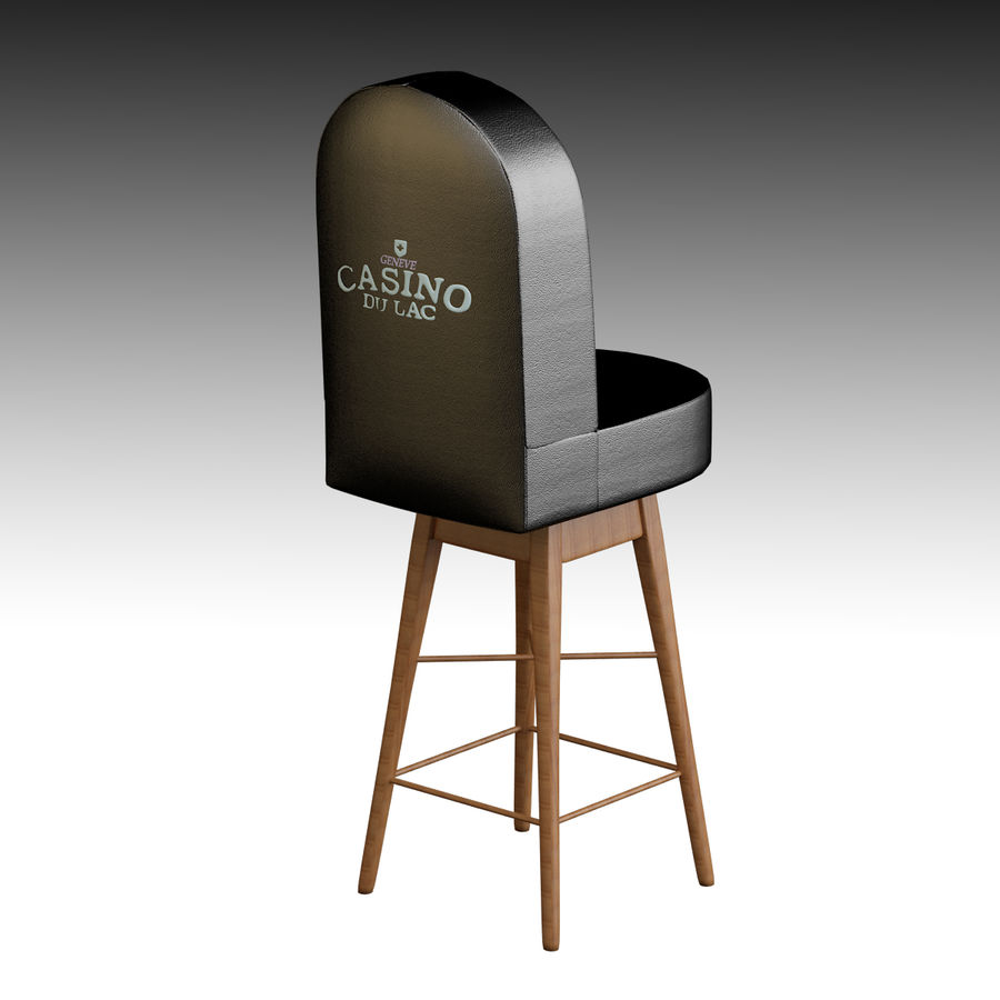 Casino Poker Chair royalty-free 3d model - Preview no. 2