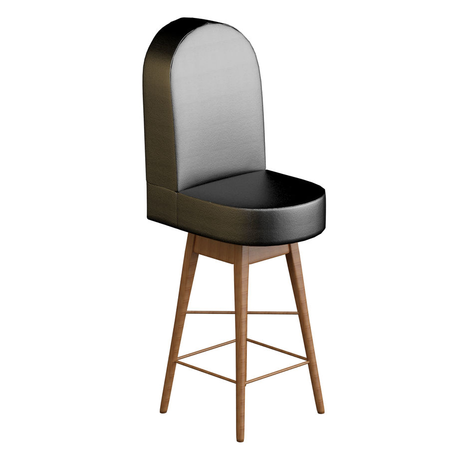 Casino Poker Chair royalty-free 3d model - Preview no. 4