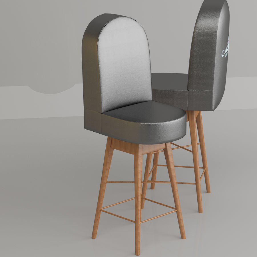 Casino Poker Chair royalty-free 3d model - Preview no. 3