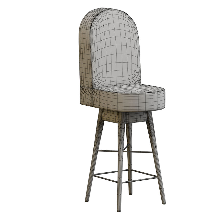 Casino Poker Chair royalty-free 3d model - Preview no. 5