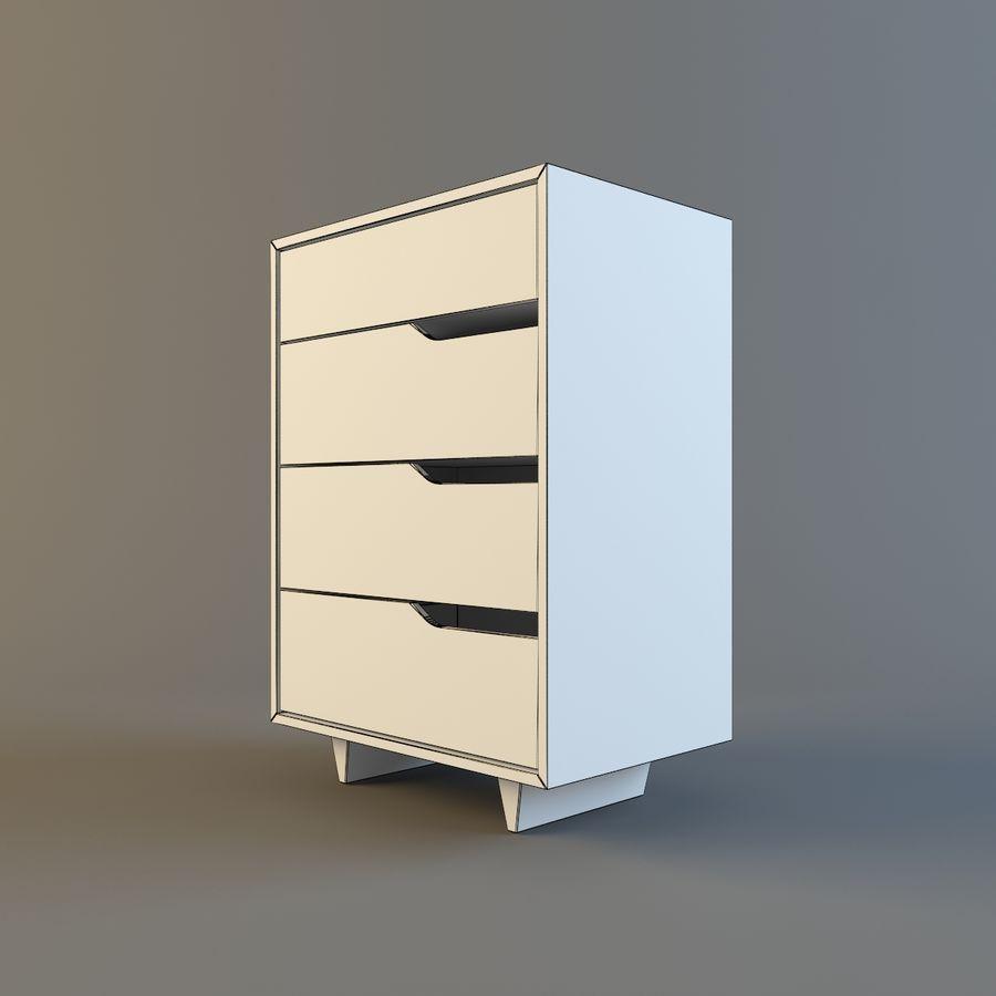 Cassettiera Ikea Malm 4 Cassetti.Ikea Mendal Cassettiera Con 4 Cassetti Modello 3d 6 Unknown