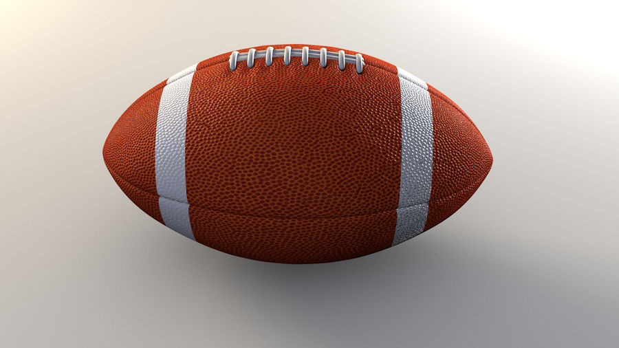 football américain royalty-free 3d model - Preview no. 3
