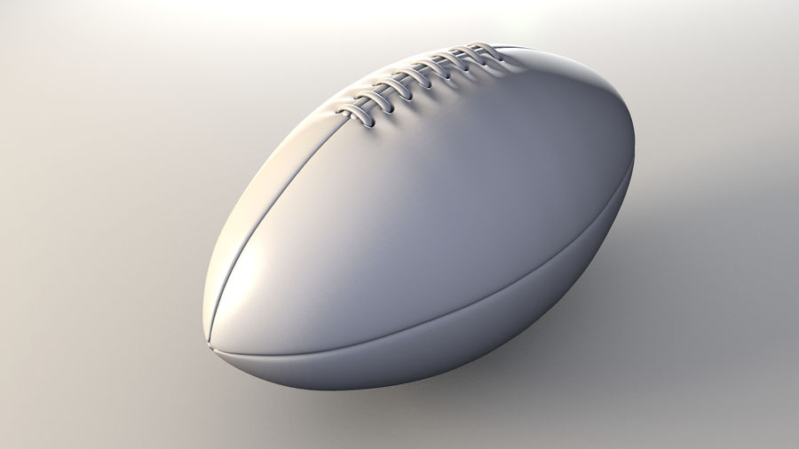 football américain royalty-free 3d model - Preview no. 5