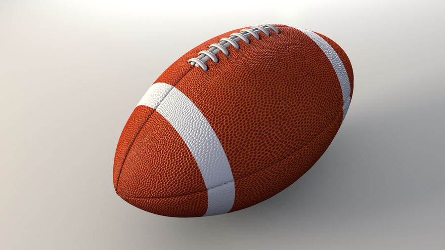 football américain royalty-free 3d model - Preview no. 1