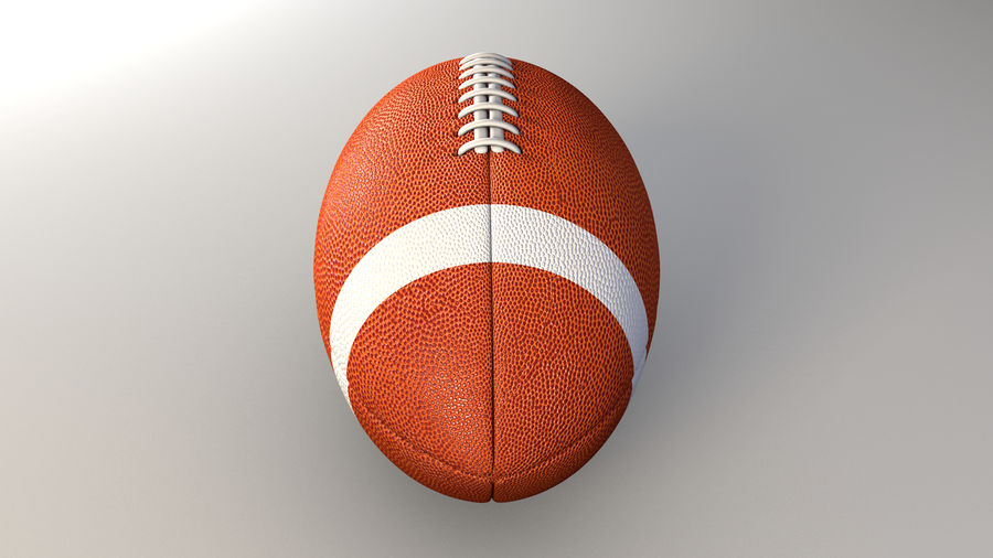 football américain royalty-free 3d model - Preview no. 2