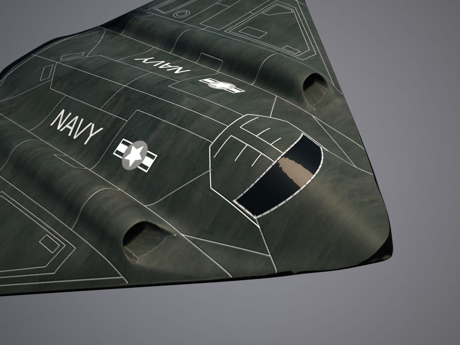 Bomber stealth low poly royalty-free 3d model - Preview no. 14