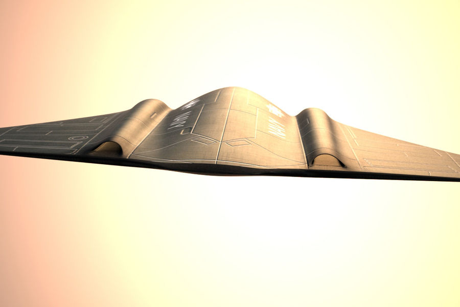 Bomber stealth low poly royalty-free 3d model - Preview no. 5